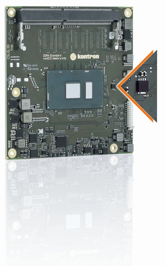 Kontron COMe cSL6 - one of the many Kontron products that support Kontron's Security Solution as a standard