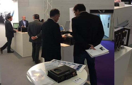 Kontron AirDefense Demo at Aircraft Interiors Expo 2017 (AIX 17) in Hamburg, Germany