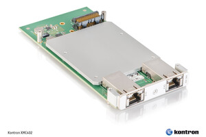 Kontron's new XMC extension board enables simple and  cost-effective migration to 10 Gigabit Ethernet